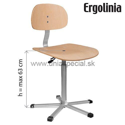 c7d4b367cf72 Pracovná stolička Ergolinia EVO4